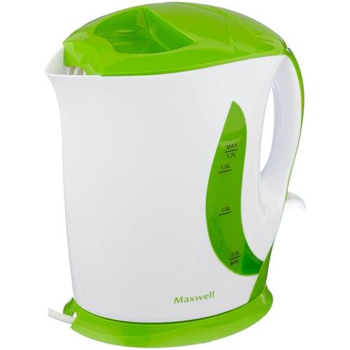 Чайник Maxwell MW-1062, белый/зеленый чайник электрический maxwell mw 1083 стекло