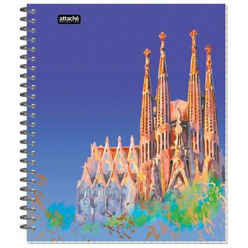 Бизнес-тетрадь Attache Selection Travel Spain А5, 96 листов разноцветный, в клетку, на спирали, 170х203 мм тетрадь общая attache lines waves а5 96 листов в клетку на спирали 4 шт