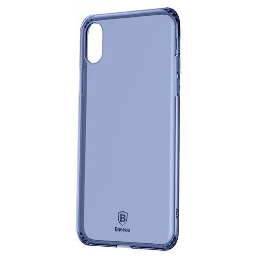 Фото - Чехол-накладка Baseus Simple Series Case Anti-Fall для Apple iPhone X transparent blue чехол накладка baseus thin case для apple iphone x black