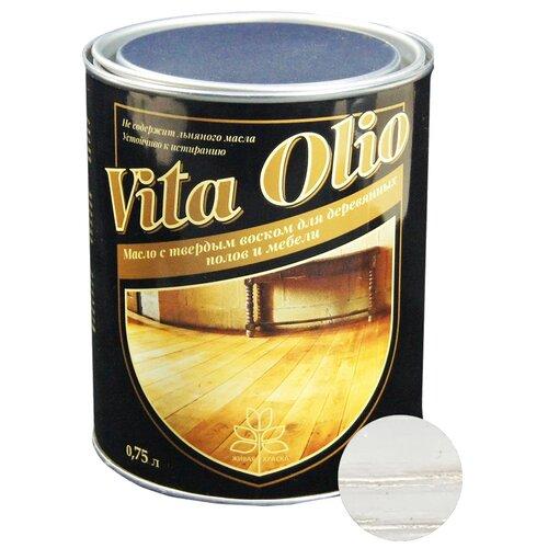 Масло-воск Живая краска VITA OLIO для паркета, лестниц и мебели, дуб беленый, 0.75 л