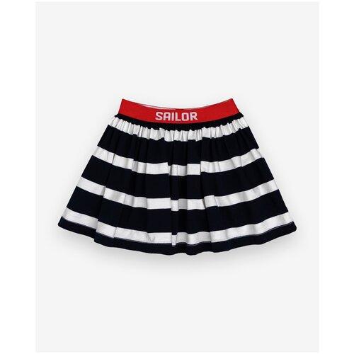 Купить Юбка Gulliver Baby размер 74, синий/полоска, Платья и юбки