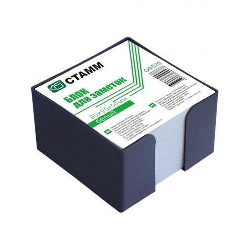 Купить СТАММ Блок для записи Стамм в пластиковом боксе, 9 х 9 х 5 см (ОФ520) белый, Бумага для заметок