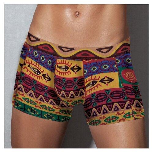 Doreanse Трусы боксеры классической посадки с узором в африканском стиле, размер S, разноцветный