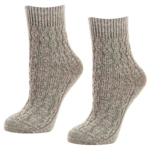 Женские бежевые шерстянные мягкие носки 2 пары, р-р 35-37