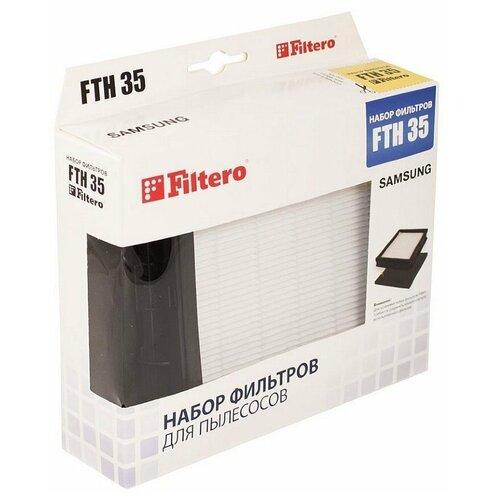 Фото - Filtero Набор фильтров FTH 35 1 шт. набор фильтров filtero fth 24 bsh hepa