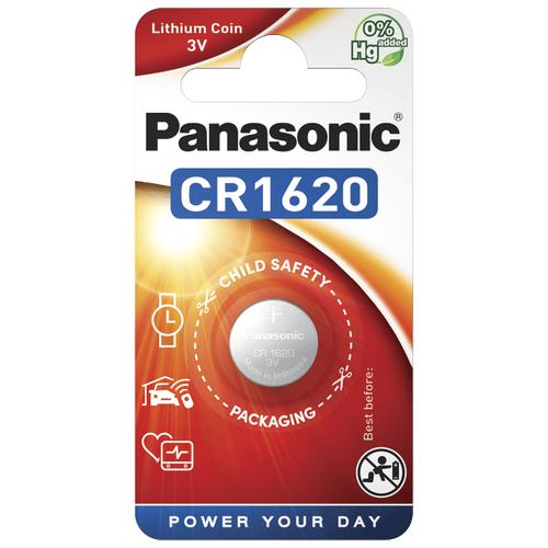 Литиевые дисковые батарейки Panasonic CR-1620EL-1B