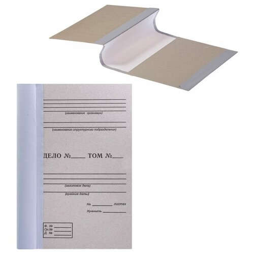 OfficeSpace Папка архивная для переплета А4, 100 мм, переплетный картон/бумвинил бурый