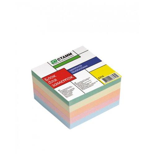 СТАММ Блок для записи Стамм, 9 х 9 х 5 см (БЗ16) цветной недорого