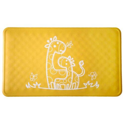 Коврик для ванны Roxy kids BM-M164Y желтый жираф roxy kids коврик roxy kids для ванны антискользящий резиновый 35 76 см желтый
