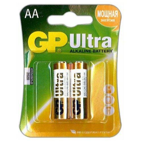 Фото - Батарейка AA щелочная GP Ultra Alkaline LR6 в блистере 2шт батарейка gp alkaline 192 g3 lr41 алкалиновая 1 шт в блистере отрывной блок 192 2cy 4891199015533