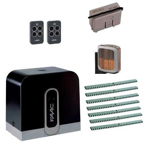 Автоматика для откатных ворот FAAC C720KIT-LA7, комплект: привод, радиоприемник, 2 пульта, лампа, 7 реек автоматика для откатных ворот faac c720kit l8 комплект привод радиоприемник 2 пульта лампа 8 реек
