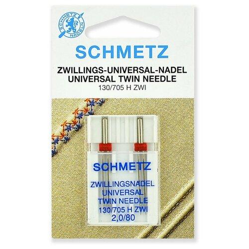 Игла/иглы Schmetz 130/705 H ZWI 2/80 двойные универсальные серебристый игла иглы schmetz 130 705 h zwi 4 90 двойные универсальные серебристый