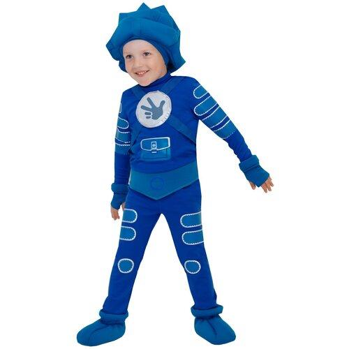 Купить Костюм пуговка Нолик (2102 к-21), синий, размер 116, Карнавальные костюмы