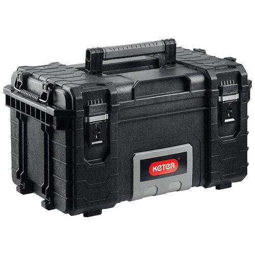 Ящик KETER Gear Toolbox (17200382) 56.4x35x31 см 22'' черный ящик для инструментов keter gear tool box 17200382