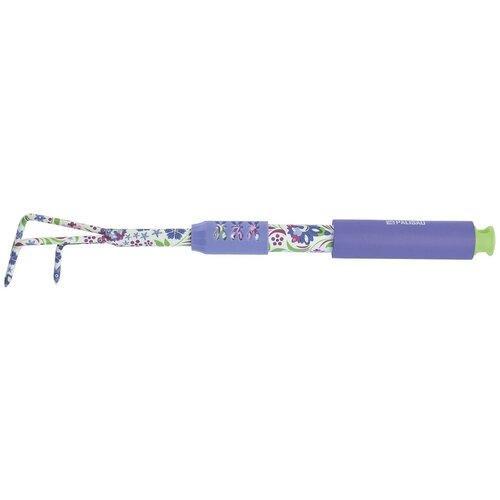 PALISAD Рыхлитель 3-зубый, 60х430 мм, стальной, удлиненная рукоятка, FLOWER MINT Palisad