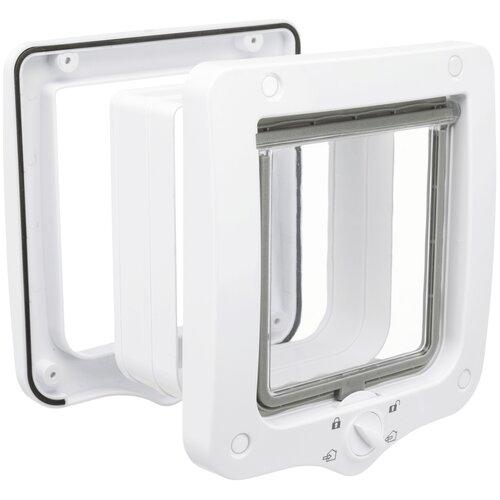 Дверца в дверь для животных TRIXIE 4-Way Cat Flap 20х22 см белый