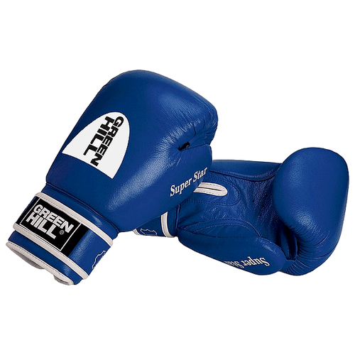 Боксерские перчатки Green hill Super Star (BGS-1213c) синий 12 oz боксерские перчатки green hill gym bgg 2018 синий 10 oz