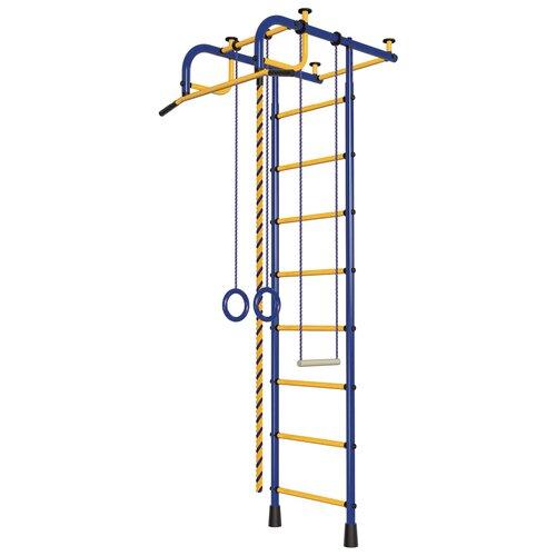 Шведская стенка Пионер 1, синий/желтый