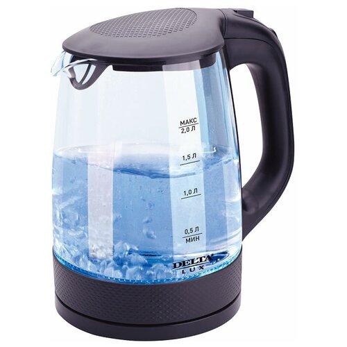 Чайник DELTA LUX DL-1058, черный чайник delta lux dl 1204b 1 7l black