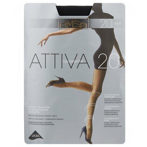 Колготки Omsa Attiva, 20 den, размер 4-L, nero (черный) колготки omsa attiva 20 den размер 3 m nero черный