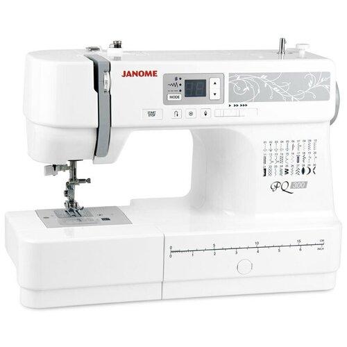 Швейная машина Janome PQ 300, белый/серый
