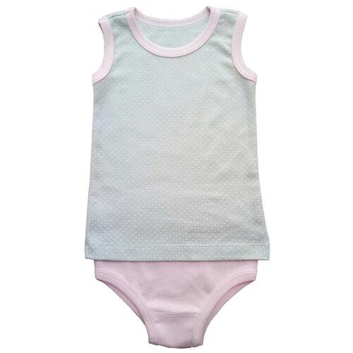 Купить Комплект нижнего белья Наша мама размер 110, серый/розовый, Белье и купальники