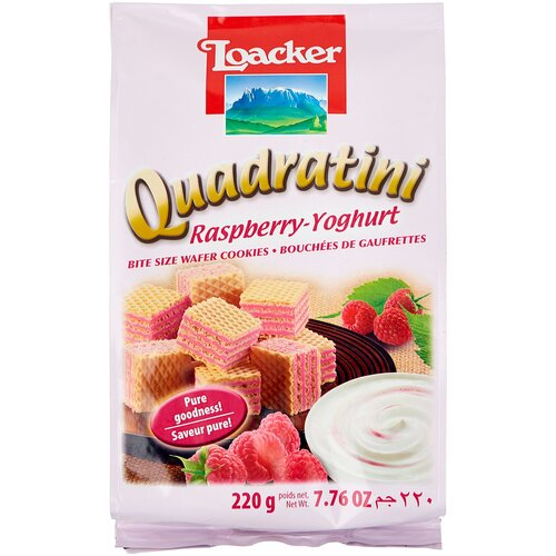 вафли loacker vanille 90 г Вафли Loacker Вафли Loacker Квадратини малина и йогурт, 220 г