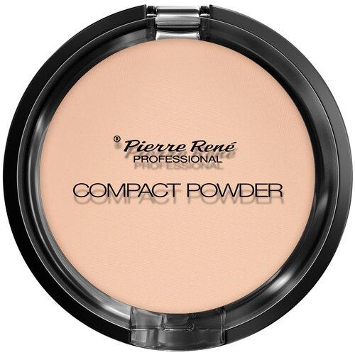 Pierre Rene Compact Powder тональная компактная пудра с натуральными маслами для сухой кожи 03 transparent недорого