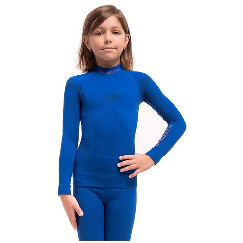 Термобелье для девочек Brubeck футболка с длинным рукавом THERMO кобальтовая 152-158