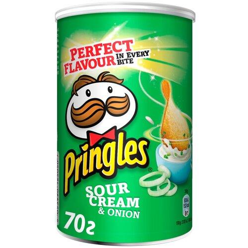 Чипсы Pringles картофельные Sour Cream & Onion, 70 г чипсы pringles картофельные spring onion 165 г