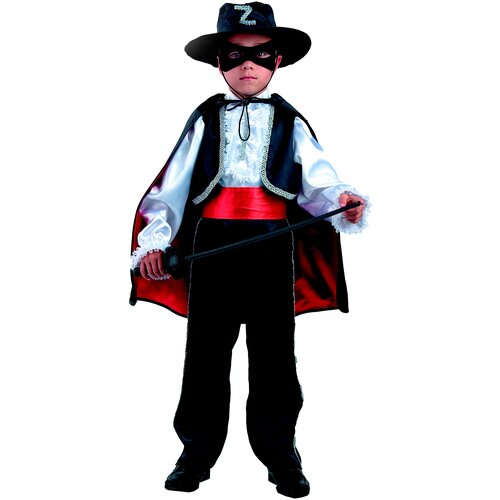 Купить Костюм Батик Зорро (7008), черный, размер 122, Карнавальные костюмы