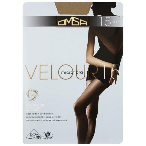 Колготки Omsa Velour, 15 den, размер 2-S, caramello (бежевый) колготки omsa beauty slim 40 den размер 2 s caramello бежевый