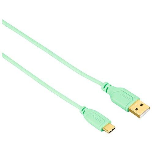 Кабель HAMA USB - USB Type-C Flexi-Slim 0.75 м зеленый