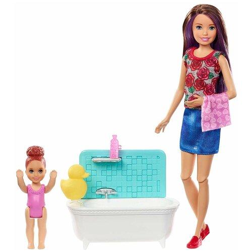 Купить Набор кукол Barbie Няня Скиппер, FXH05, Куклы и пупсы