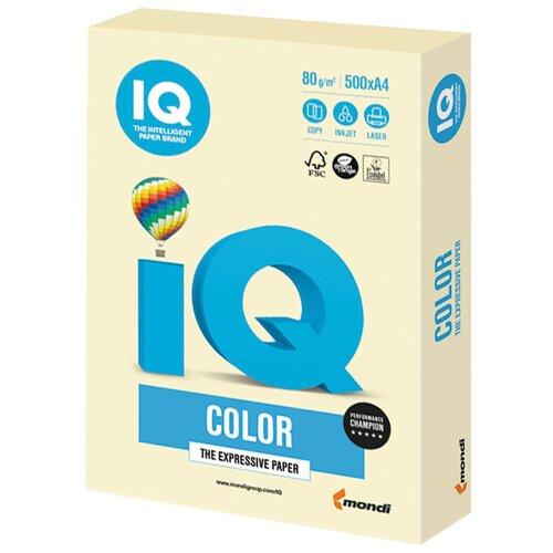 Фото - Бумага IQ Color A4 80 г/м² 500 лист., ванильно-бежевый BE66 бумага iq premium a4 80 г м² 500 лист
