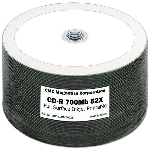Диск CD-R 700Mb CMC 52x Printable bulk упаковка 50 штук