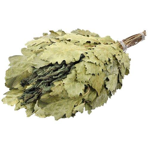 Банные штучки Веник дубовый с крапивой зеленый
