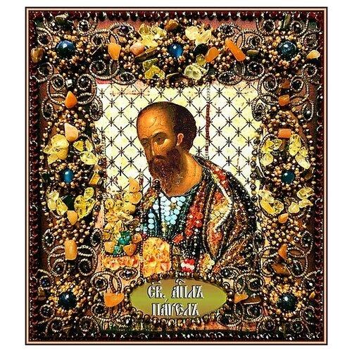 Купить Набор для вышивания хрустальными бусинами и настоящими камнями, Образа в каменьях, Святой Павел , Наборы для вышивания
