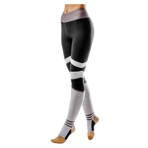 Фото - Леггинсы Grace Dance размер 36, черный/белый леггинсы grace dance размер 46 черный фиолетовый