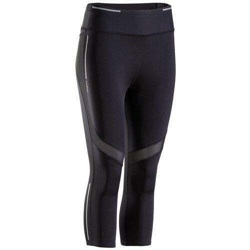 Тайтсы для бега с поддержкой мышц женские KIPRUN SUPPORT, размер: M, цвет: Черный KIPRUN Х Декатлон