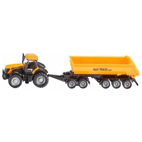 трактор siku с прицепом кузовом 1858 1 87 22 6 см желтый Трактор Siku с прицепом-кузовом (1858) 1:87, 22.6 см, желтый