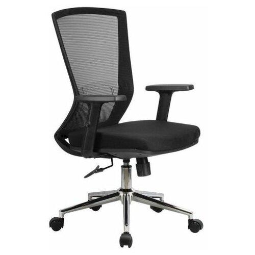 Компьютерное кресло Рива 871Е офисное, обивка: текстиль, цвет: черный компьютерное кресло рива 8074 офисное обивка текстиль искусственная кожа цвет оранжевый