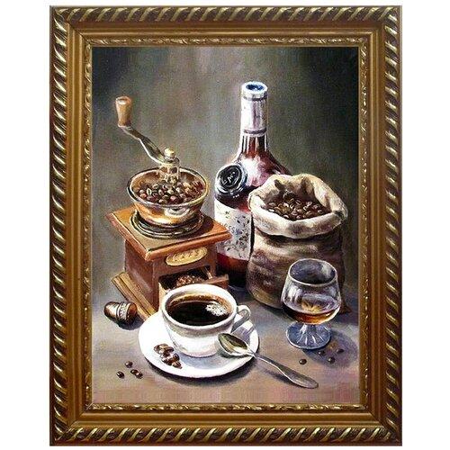 Фото - Алмазная живопись Набор алмазной вышивки Кофейный набор (АЖ-1434) 30x40 см алмазная живопись набор алмазной вышивки дружные синички аж 1475 24х30 см