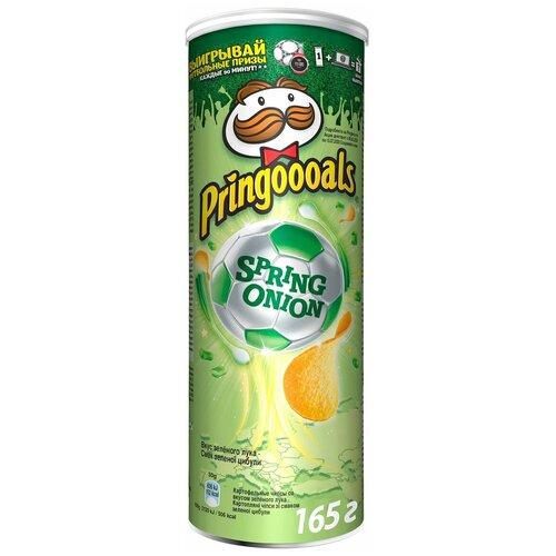 Чипсы Pringles картофельные, со вкусом зеленого лука, 19 шт по 165 г чипсы pringles картофельные spring onion 165 г