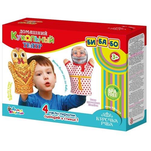 Фото - Театр кукольный домашний Курочка Ряба (4 куклы-перчатки) десятое королевство td03663 домашний кукольный театр колобок 7 кукол перчаток