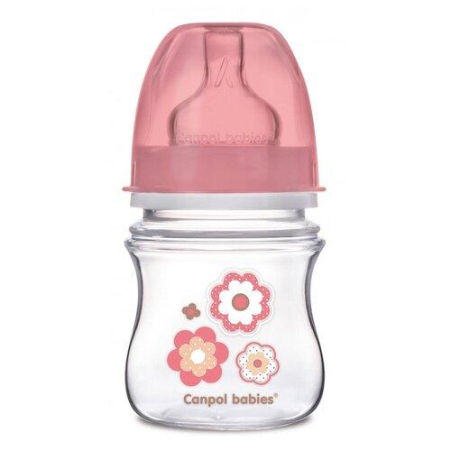 Купить Бутылочка Canpol babies EasyStart, с широким горлышком, антиколиковая, Pp, 0+, 120 мл, цвет розовый (250989169), Бутылочки и ниблеры
