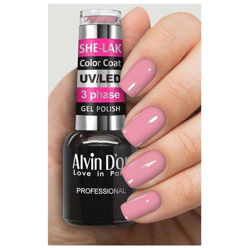 Купить Гель-лак для ногтей Alvin D'or She-Lak Color Coat, 8 мл, 3507
