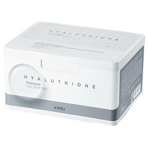 Купить A'PIEU Набор увлажняющих тканевых масок Daily Sheet Mask Hyaluthione Soonsoo с гиалуроновой кислотой, 33 шт.