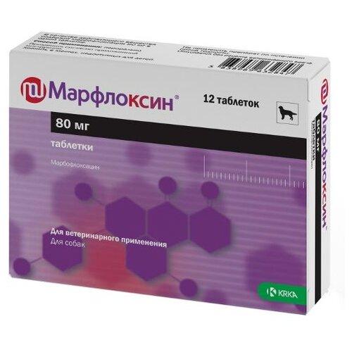 Препарат для собак KRKA Марфлоксин 80мг 12таб.
