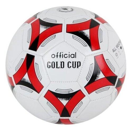 Футбольный мяч Гратвест Т53107 белый/красный 5 мяч гратвест бегемот загорает c20408 22 см синий